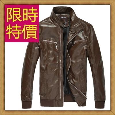 皮衣夾克 機車外套-哈雷騎士風個性男外套61e22【義大利進口】【米蘭精品】