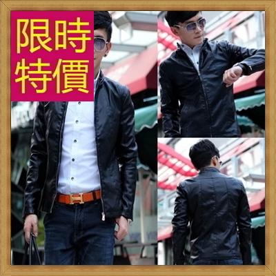 皮衣夾克 機車外套-哈雷騎士風個性男外套61e25【義大利進口】【米蘭精品】