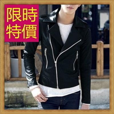 皮衣夾克 機車外套-哈雷騎士風個性男外套61e30【義大利進口】【米蘭精品】