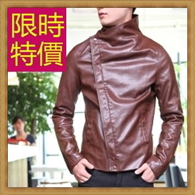 皮衣夾克 機車外套-哈雷騎士風個性男外套61e31【義大利進口】【米蘭精品】