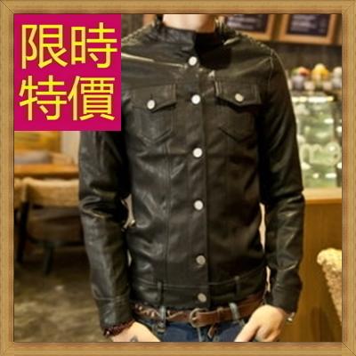 皮衣夾克 機車外套-哈雷騎士風個性男外套61e32【義大利進口】【米蘭精品】