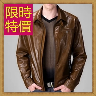 皮衣夾克 機車外套-哈雷騎士風個性男外套61e4【義大利進口】【米蘭精品】