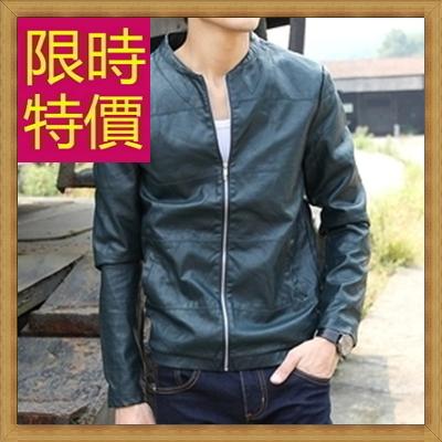皮衣夾克 機車外套-哈雷騎士風個性男外套61e5【義大利進口】【米蘭精品】