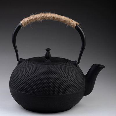 日本鐵壺 茶壺-鑄鐵1.8L顆粒黑點南部鐵器水壺老鐵壺61i3【日本進口】【米蘭精品】