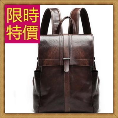 後背包 真皮雙肩包-復古英倫學院風男女背包2色61s14【日本進口】【米蘭精品】