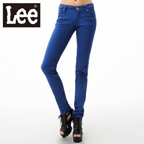 【Super Sales 褲款下殺↘2.5折】LEE 牛仔褲 467 超低腰修身窄管-女款(藍)