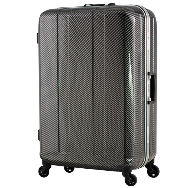 日本 LEGEND WALKER 6022-64-26吋 鋁框超輕量行李箱 碳纖黑
