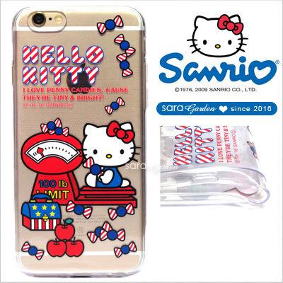 官方授權 三麗鷗 Sanrio Hello Kitty 浮雕 彩繪 iPhone 6 6S Plus Note5 Z5 Z5P A5 A7 A9 手機殼 軟殼 美式糖果【D0220189】
