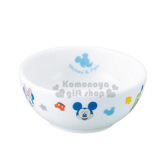 〔小禮堂〕迪士尼 米奇米妮 日製陶瓷碗《小.白.多大臉.角色》日本金正陶瓷.朋友系列