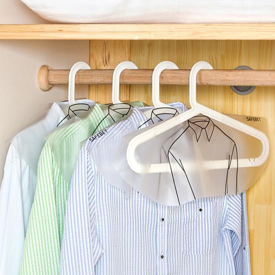 ♚MY COLOR♚加厚半包衣物防塵罩 透明 襯衫 外套 上衣 褲款 服裝 衣櫃 掛袋 肩領 裙【F51】