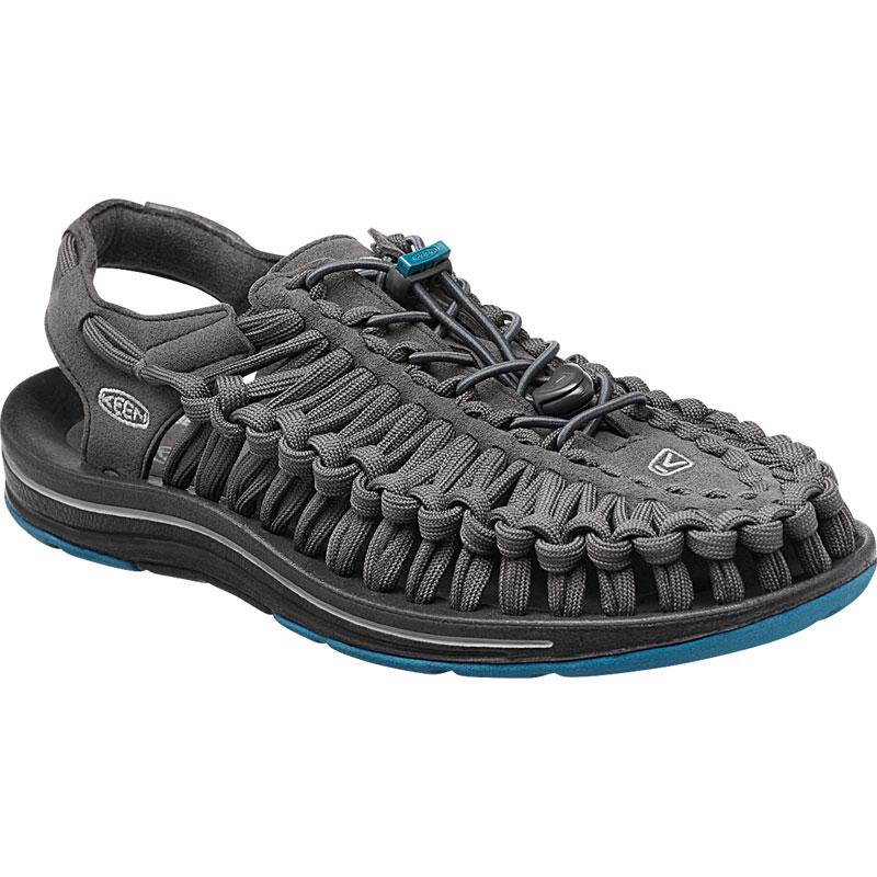 ├登山樂┤美國KEEN UNEEK FLAT 男款編織涼鞋 深灰/藍 #1014974