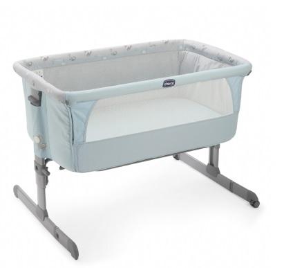 【淘氣寶寶】義大利 Chicco Next 2 Me多功能移動嬰兒床(湖水藍 )