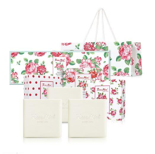 韓國 EVAS 玫瑰香水香皂禮盒3入 附贈提袋《Belle倍莉小舖》