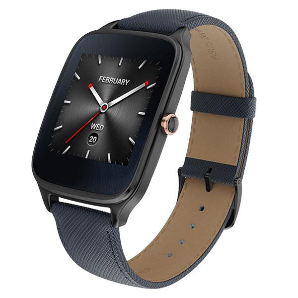 華碩 ASUS ZenWatch 2 (大錶)快充進化版-真皮伯爵藍悠遊卡錶帶 WI501Q/運動管理【馬尼行動通訊】