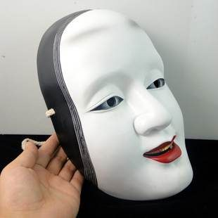 =優生活=電影面具 日本能劇面具 女鬼 孫次郎 般若 長角 樹脂 擺飾 萬聖節 變裝