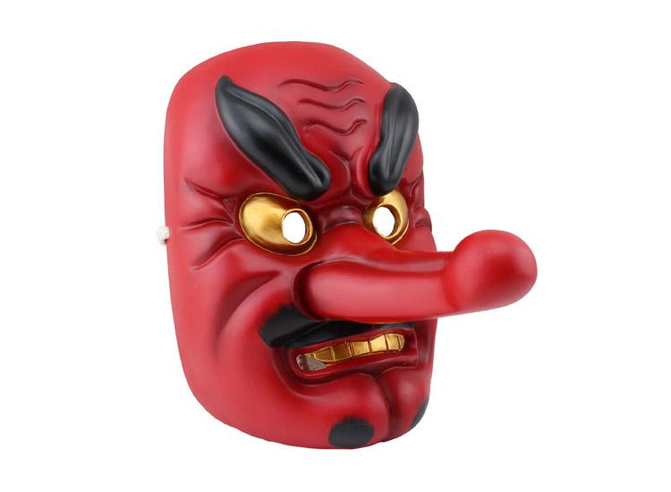 =優生活超精緻電影面具 日本能劇面具 天狗 武士 般若 長鼻子 樹脂 擺飾