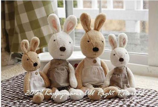 =優生活=日本正品 le sucre 砂糖兔 法國兔娃娃 滿月禮物 結婚禮物 情人節禮物 韓服裙款 30公分