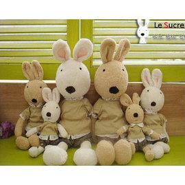 =優生活=日本正品 le sucre 砂糖兔 法國兔娃娃 滿月禮物 結婚禮物 情人節禮物 學院風款 30公分