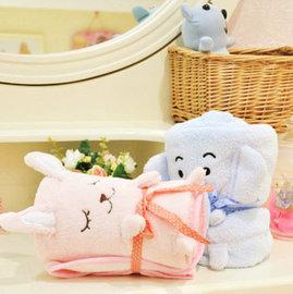 =優生活=超萌~毛絨絨小象 小粉兔 空調毯 毛毯 抱枕