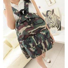 =優生活=韓版軍旅 迷彩時尚學院風後背包 雙肩包 休閒包 迷彩風格