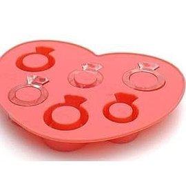 =優生活=愛的冰戒Love Ring 冰格 冰盒 製冰盒 立體戒指造型 模型 巧克力模型
