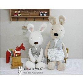 =優生活=日本正品 le sucre 砂糖兔 法國兔娃娃 滿月禮物 結婚禮物 情人節禮物 澎裙碎花 30公分