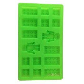 =優生活=食用級矽膠樂高機器人磚人 製冰盒 麵包蛋糕模型 烤箱烘焙模具 果凍模具 布丁模具 LEGO模型