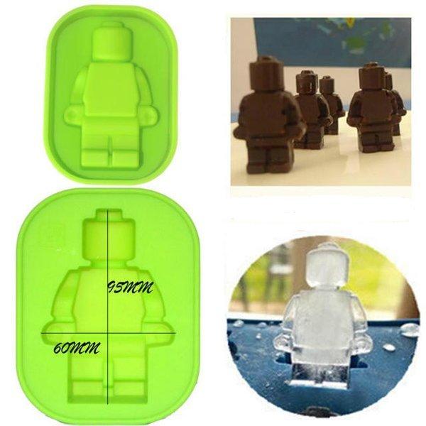 =優生活=食用級矽膠樂高機器人 人偶冰格小號 製冰盒 麵包蛋糕模型 烤箱烘焙模具 果凍模具 巧克力模布丁模具 LEGO模型