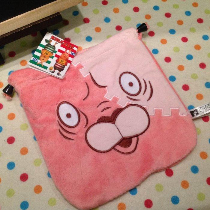 =優生活=日單 紅貓妙妙 監獄兔Usavich 毛絨抽繩袋 束口袋 收納袋 化妝包 相機包 衛生棉包