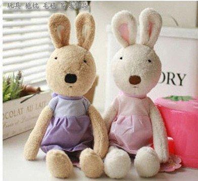 =優生活=日本正品 le sucre 砂糖兔 法國兔娃娃 滿月禮物 結婚禮物 情人節禮物 天使條紋30公分
