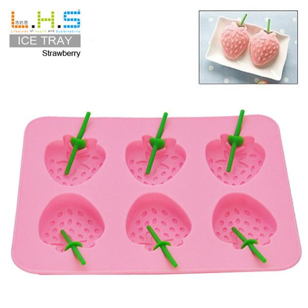 =優生活=夏日清涼制冰器 新鮮草莓造型冰格 制冰格 制冰盒 冰塊格 制冰模具 巧克力模具