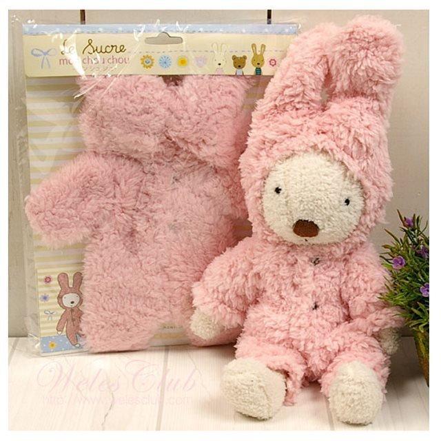 =優生活=日本正品 le sucre 砂糖兔 法國兔娃娃 滿月禮物 結婚禮物 情人節禮物 連身衣30公分