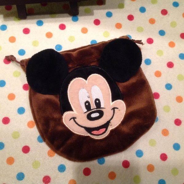 =優生活=迪士尼米奇束口袋 收納袋 化妝包 衛生棉包