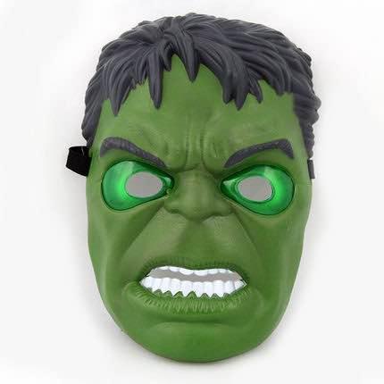 =優生活=美國隊長面具 發光面具 發光蝙蝠俠面具 綠巨人浩克發光 復仇者聯盟發光面具 萬聖節 尾牙 聖誕節 (綠巨人浩克)