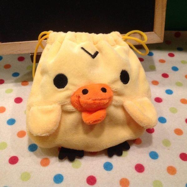 =優生活=拉拉熊 鼻孔雞 小雞 黃色小鴨 束口袋 收納袋 化妝包 衛生棉包