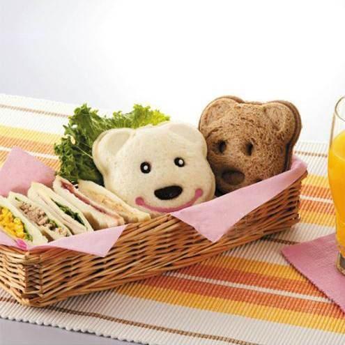 =優生活=可愛黃色小熊造型DIY口袋三明治模具/吐司壓模製作器 飯模