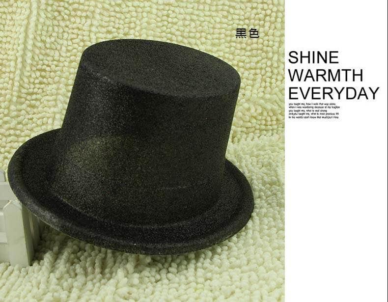 =優生活=萬聖節道具 爵士帽 林肯帽 魔術帽 金粉高帽 金蔥高帽 尾牙 聖誕節 帽子道具