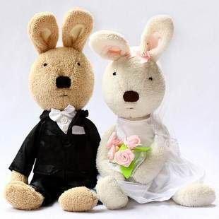 =優生活=日本正版lesucre可愛砂糖兔 法國兔婚紗禮服娃娃 結婚禮物 30公分