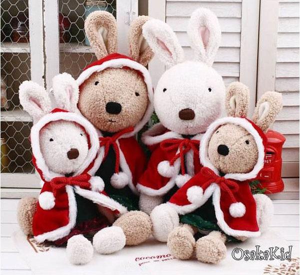 =優生活=日本正品 le sucre 砂糖兔 法國兔娃娃 滿月禮物 結婚禮物 情人節禮物 聖誕裝款 30公分