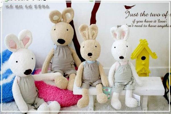 =優生活=日本正品 le sucre 砂糖兔 法國兔娃娃 滿月禮物 結婚禮物 情人節禮物 素色吊帶款 30公分
