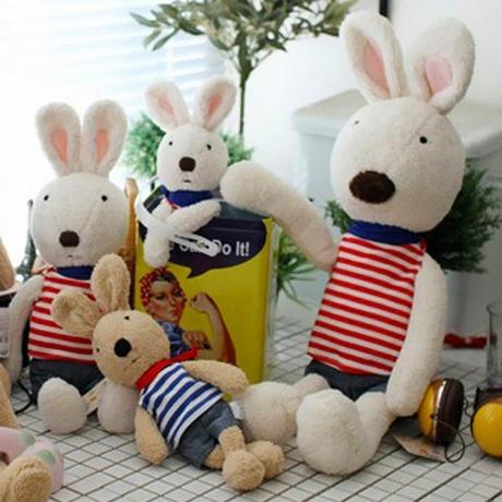 =優生活=日本正品 le sucre 砂糖兔 法國兔娃娃 滿月禮物 結婚禮物 情人節禮物 海軍風款 30公分