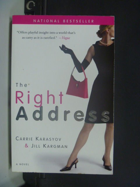 【書寶二手書T9/原文小說_JEU】The Right Address_Carrie Karasyov