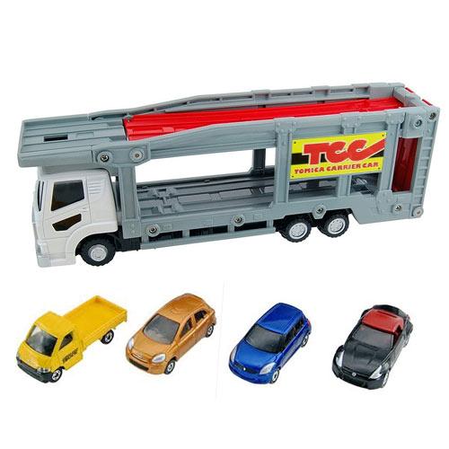 【奇買親子購物網】★【TAKARA TOMY】Carrier Car Set 新汽車運輸車