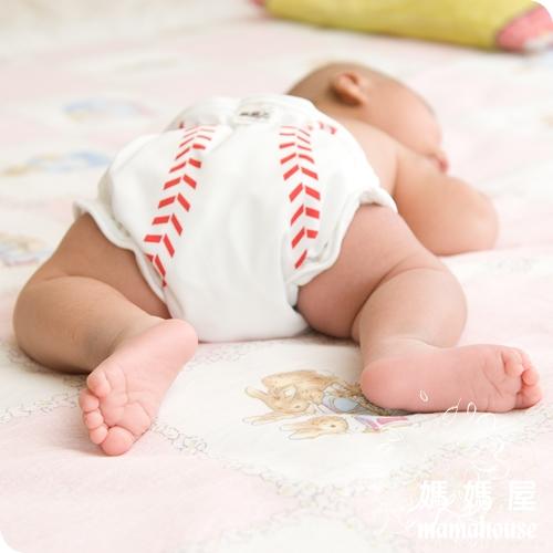 《樂樂環保布尿布兜.釦子款.單一尺寸尿褲兜.J005棒球好手》  台灣製.NB~XL.從小穿到大