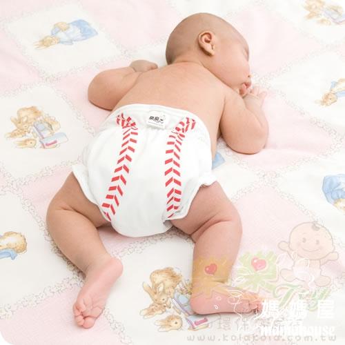 《樂樂環保布尿布兜.魔鬼沾.單一尺寸尿褲兜.J005棒球好手》  台灣製.NB~XL.從小穿到大