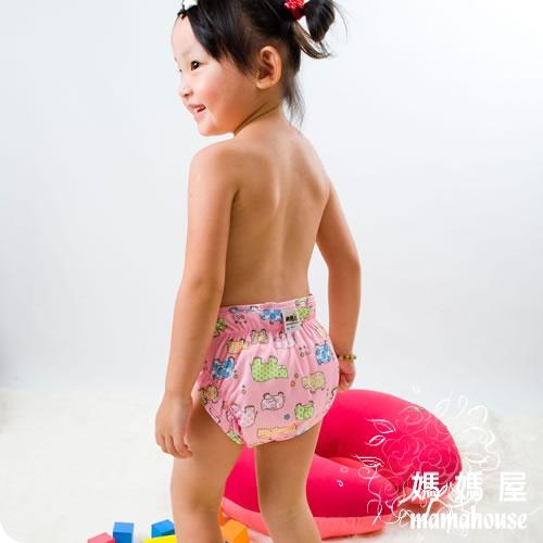 《樂樂環保布尿布兜.魔鬼沾.單一尺寸尿褲兜.J015小河馬》  台灣製.NB~XL.從小穿到大