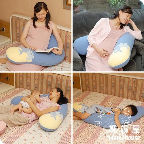 《妳心孕產婦專用V型枕.紳士藍》孕婦枕.哺乳枕.餵奶墊.學坐枕.大抱枕.側睡枕.輔助枕.雙胞胎哺乳枕
