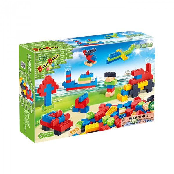 【BanBao 積木】基礎教育積木系列-盒裝小積木DIY創意組 8489  (樂高通用) (單筆訂單購買再加送積木拆解器一個)