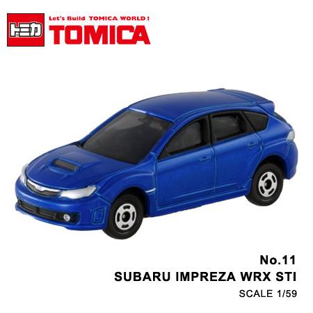 日貨 TOMICA No.11 SUBARU IMPREZA WRX STI 速霸陸 硬皮鯊 絕版 真車系列 汽車模型 多美小汽車【N201324】