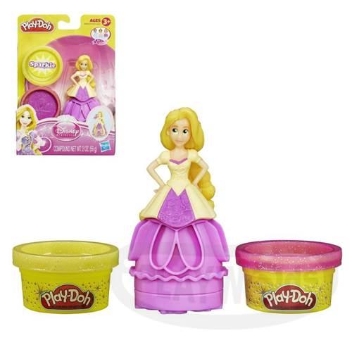 【Playwoods】[培樂多黏土PLAYDOH]迪士尼公主遊戲組-長髮公主樂佩Princess Rapunzel(含兩罐閃亮黏土/魔法奇緣/Tangled/公主系列/Disney/安全無毒/DIY/安全/幼兒玩具/益智/孩之寶Hasbro)